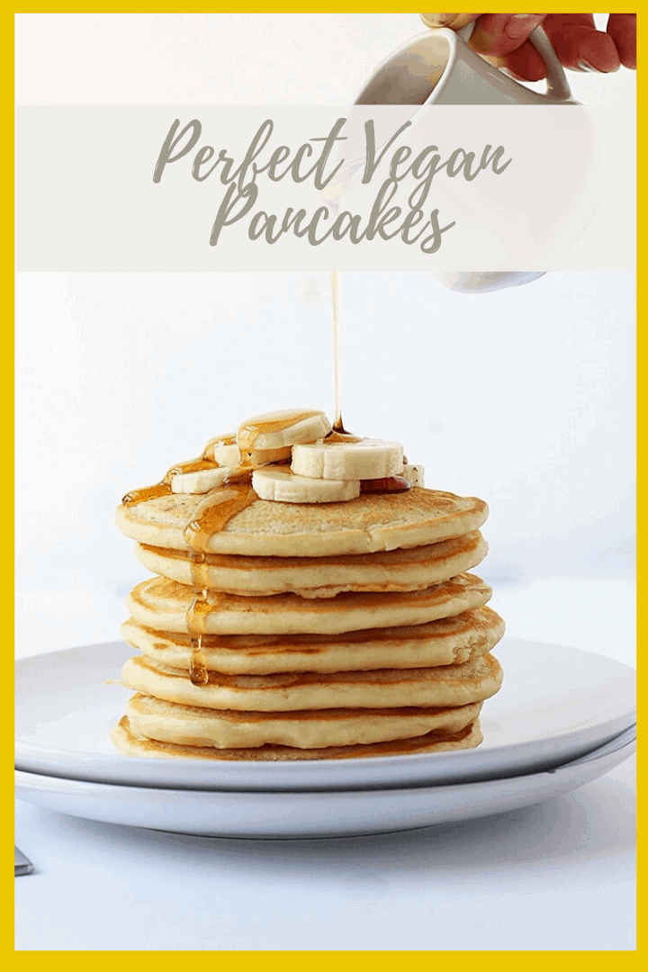 Wake up to these easy Vegan Pancakes. Light, fluffy, and slightly sweetened with maple syrup, this is a breakfast worth getting out of bed for. Ready in 10 minutes.