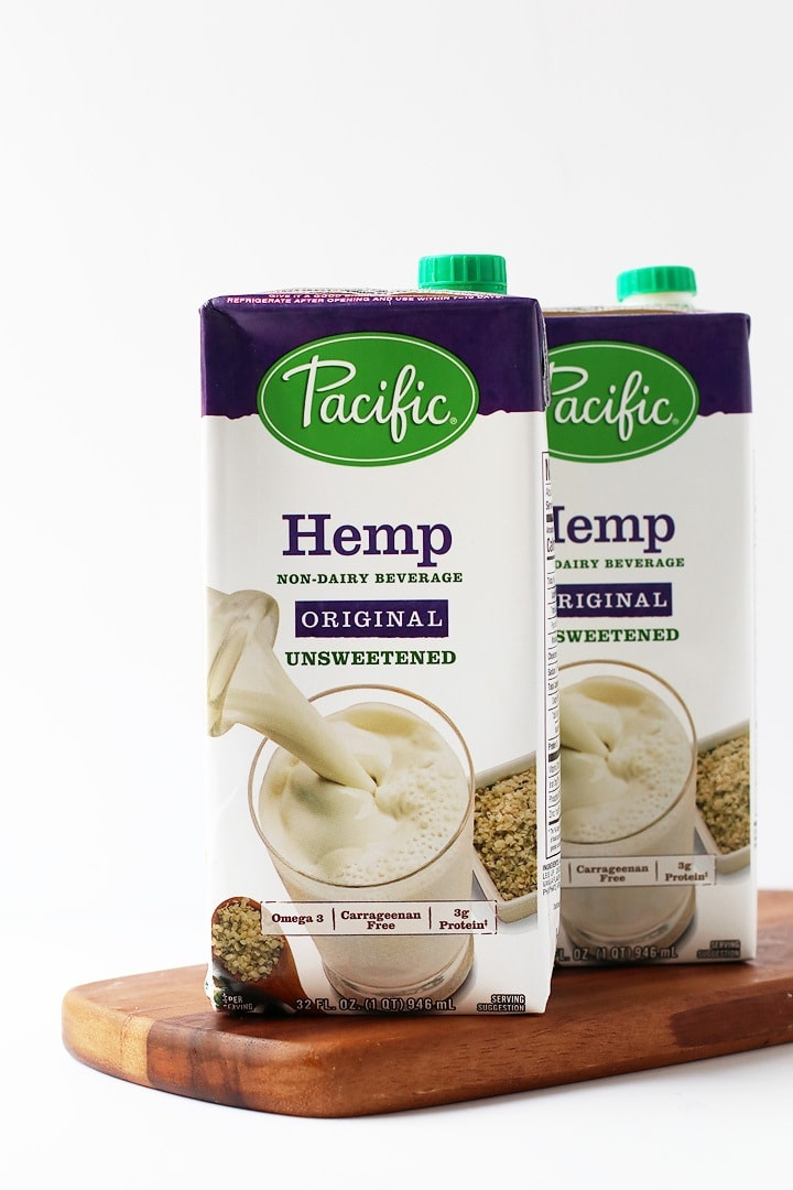 Two cartons of Pacific Foods Hemp Milk