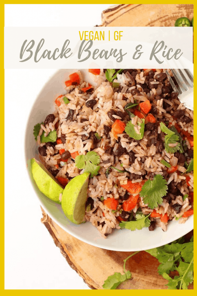 This 30-minute Black Beans and Rice recipe is filled with protein and packed with flavor for a wholesome vegan and gluten-free meal.Delicious and so easy to make, it should be part of your weekly rotation.