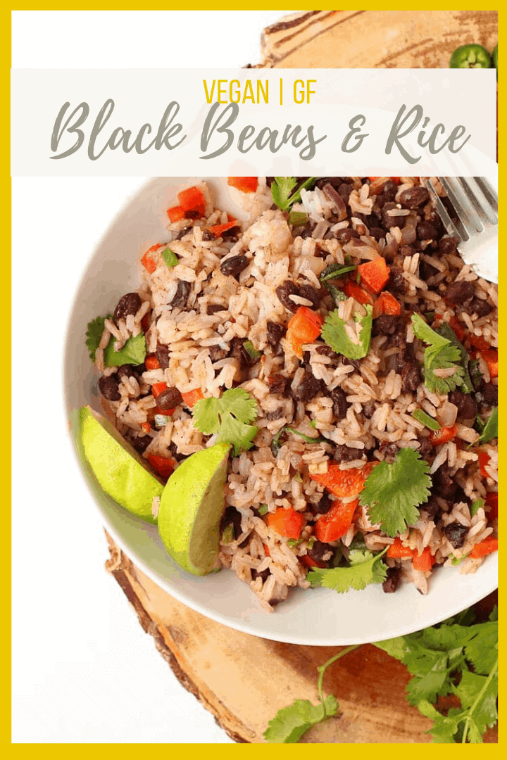 This 30-minute Black Beans and Rice recipe is filled with protein and packed with flavor for a wholesome vegan and gluten-free meal. Delicious and so easy to make, it should be part of your weekly rotation.