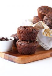 Stack of Chocolate Zucchini Muffins