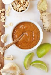 A bowl of Thai Peanut Sauce.