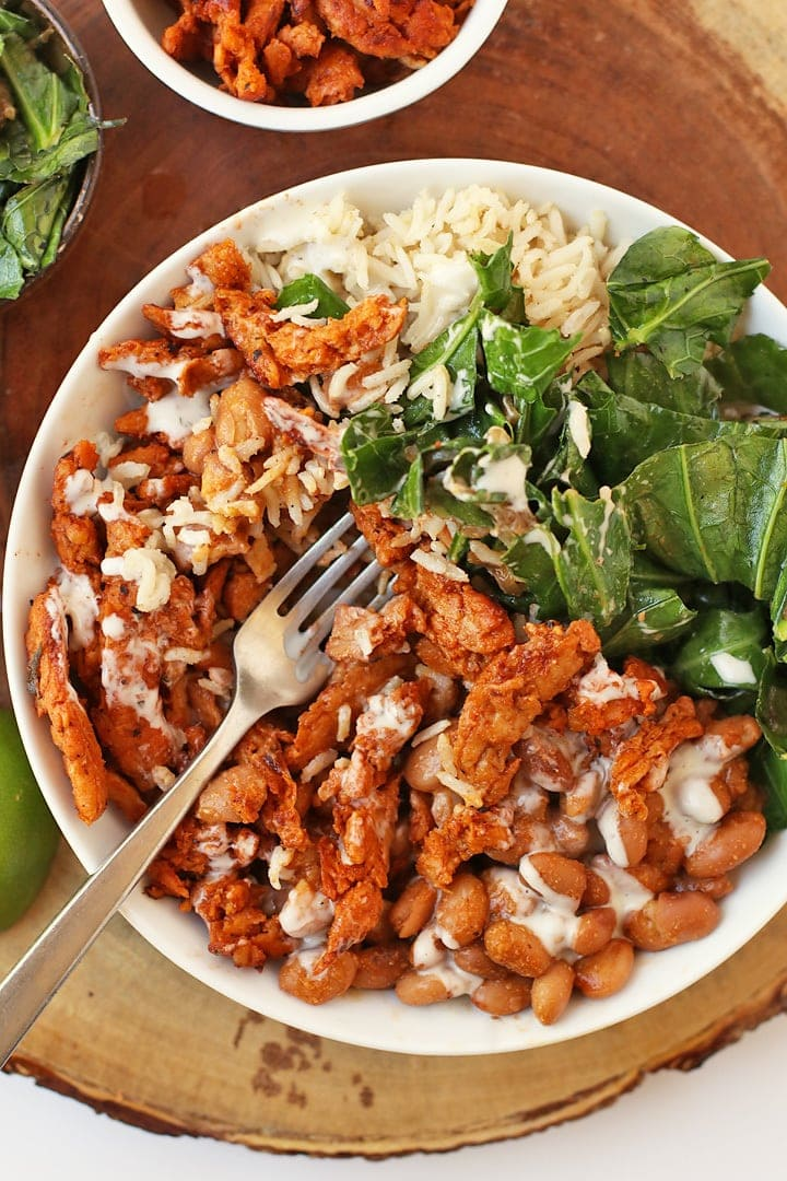 BBQ Bowl with Soy Curls