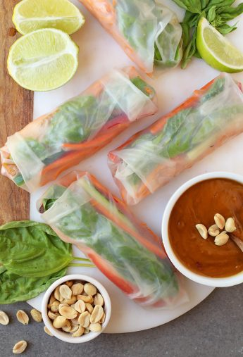 Vietnamese Spring Rolls with Tempeh.