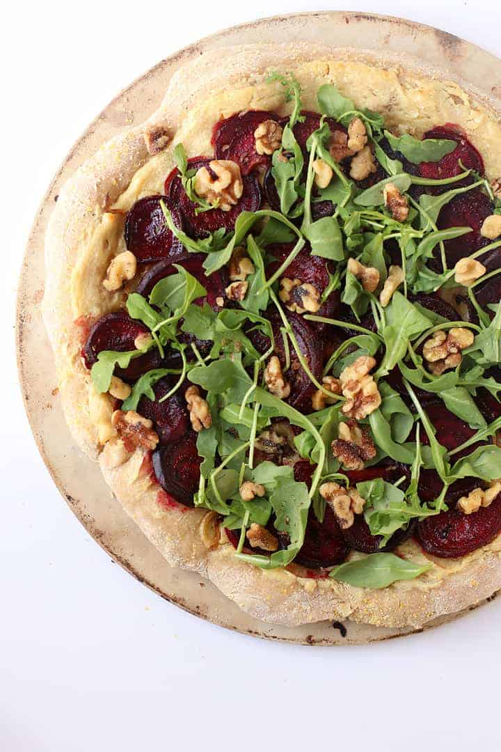 Roasted Beet Pizza