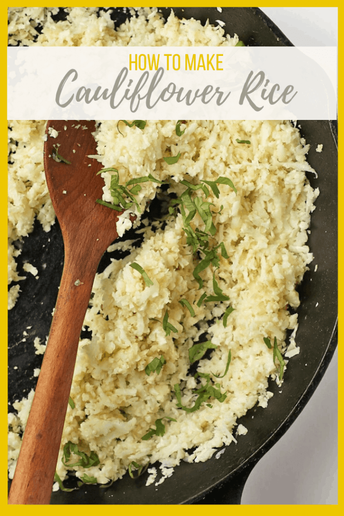 Learn how to make Cauliflower Rice with this easy step-by-step guide. With just 3 ingredients and less than 5 minutes, you could be eating a delicious and wholesome rice alternative immediately.