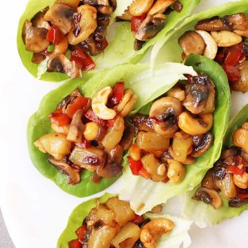 Mushroom Teriyaki Lettuce Wraps