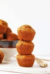 Stack of vegan Pumpkin Muffins