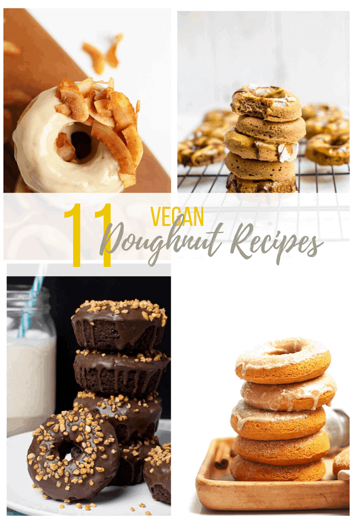 11 of the best vegan donuts you've ever seen! With chocolate, citrus, and the flavors of maple and cinnamon, these donut recipes will have you covered year around!