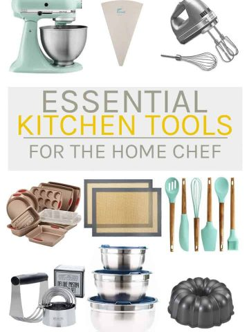 It's the essential kitchen tools that every home chef needs! Have you ever wondered what you need to have a well-stocked kitchen? Here is the ultimate list on the top essential kitchen gadgets and utensils.