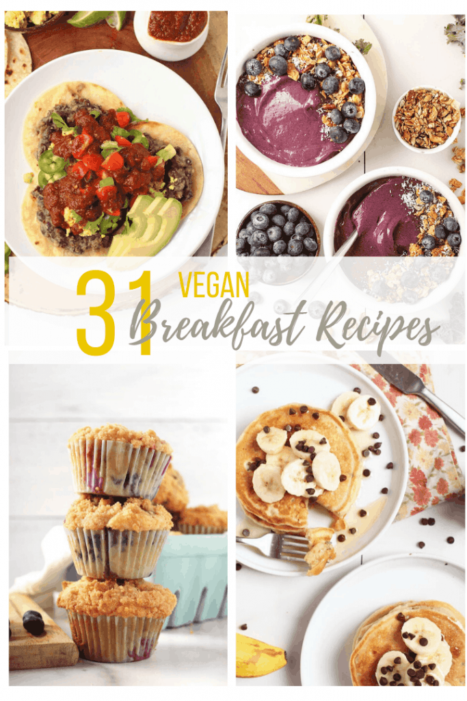 31 of the best VEGAN breakfast recipes. This roundup has it all; from sweet to savory, these meat-free, egg-free morning recipes are the perfect way to start your day.