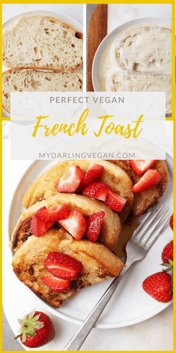 This Classic Vegan French Toast is even better without eggs. Made with chickpea flour and soy milk, this vegan brunch recipe will certainly impress your family and friends.