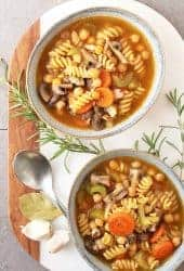 One-Pot Chickpea Vegetable Noodle Soup
