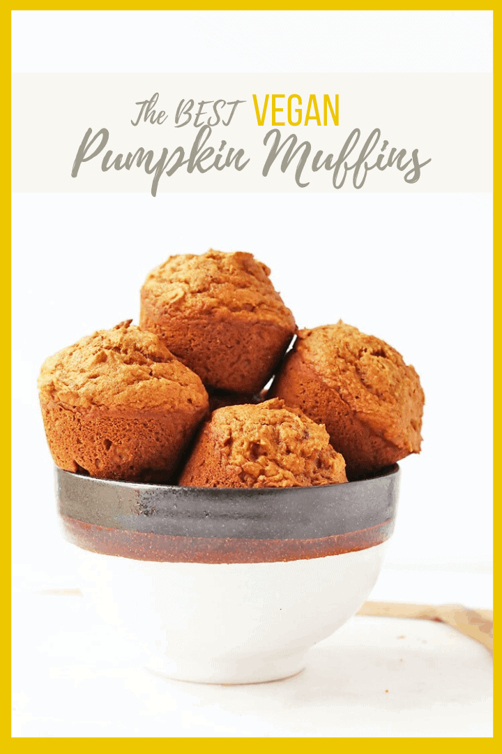 Fall into fall with these deliciously light and perfectly flavored vegan pumpkin muffins. An easy, fail-proof, autumnal pastry that will warm up your home and fill up your belly. Made in just 30 minutes!