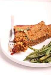 Vegan Meatloaf with Mushrooms and Lentils