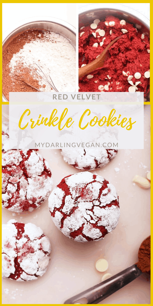 These fudgy Red Velvet Crinkle Cookies are perfect for your holiday parties. Just look at that snowy white crinkle! Made in under 30 minutes for a delightfully festive sweet treat.