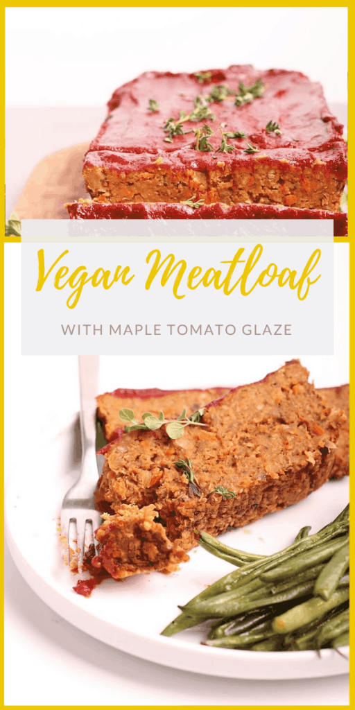 Make your holidays special with this vegan meatloaf. A lentil loaf filled with vegetables and spices. All topped with a maple tomato sauce for a delicious and seasonal plant-based entrée.