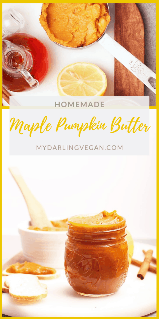 This homemade maple pumpkin butter is quick and simple to make for a delicious condiment, filling, or spread. Made in just 1 pot in under 30 minutes for a treat to enjoy all season long.