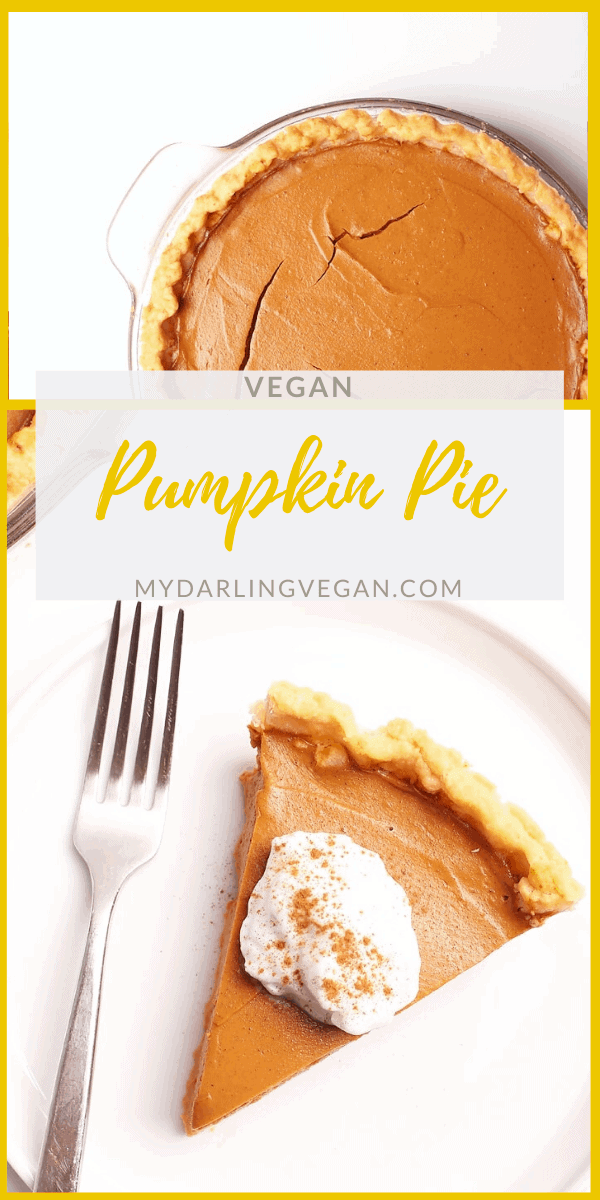 This classic vegan pumpkin pie is so creamy and rich, no one will believe it's vegan. The filling can be made in a blender for a quick and easy fall dessert the whole family will love.