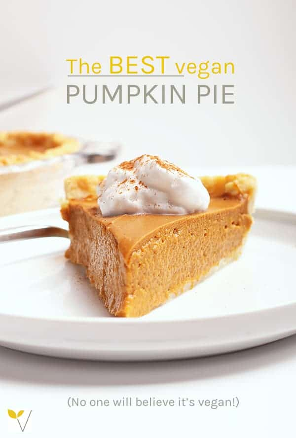 This classic vegan pumpkin pie is so rich and creamy, no one will believe it's vegan. The filling can be made in a blender for a quick and easy fall dessert the whole family will love.