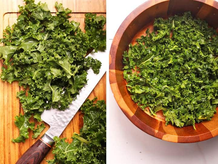 Cut and massaged kale