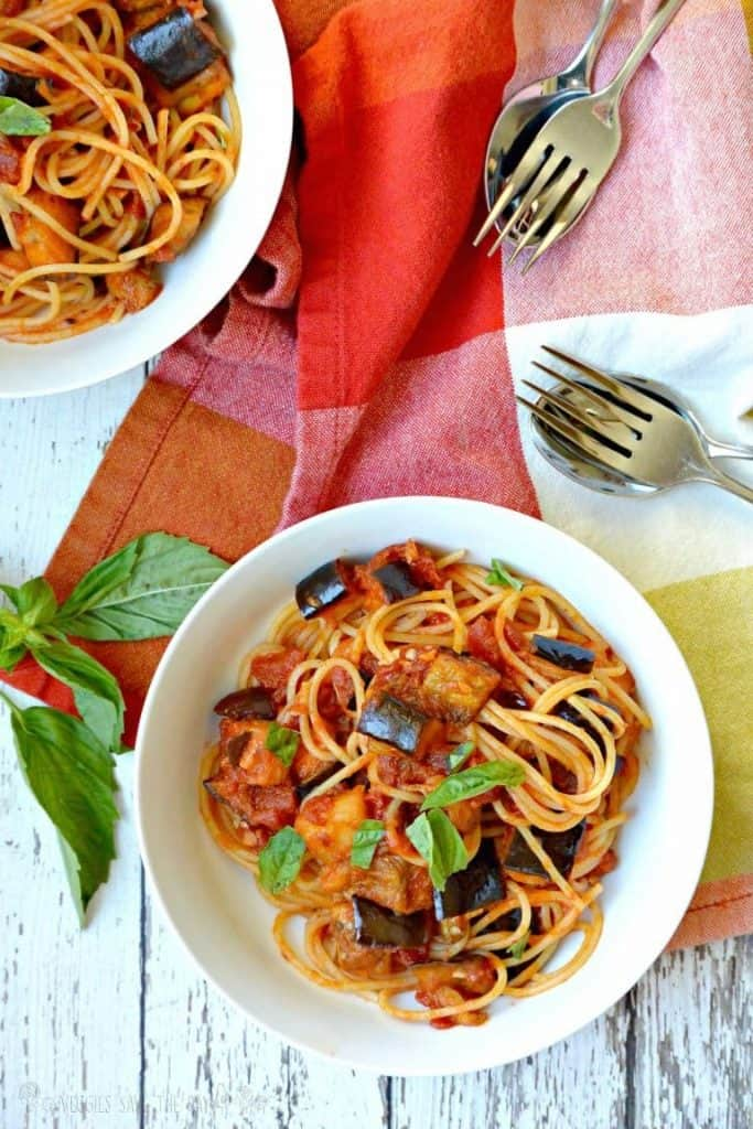 Eggplant Bolognese Pasta