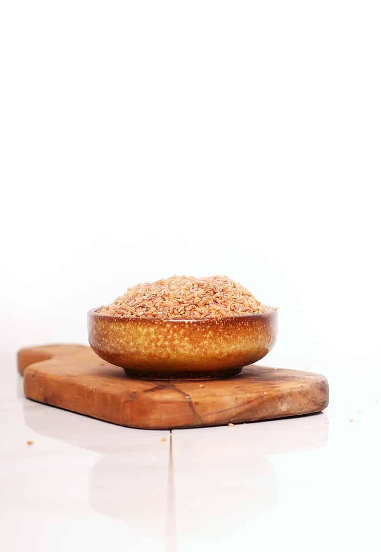 bowl of dry bulgur wheat