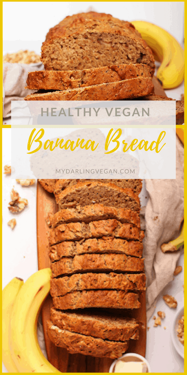 This healthy vegan banana bread is sweetened naturally with dates and bananas for a delicious, moist, and healthy morning or midday sweet bread. Prepare this easy quick bread recipe in just 10 minutes. Then sit back with a cup of tea and relax while you watch it bake.