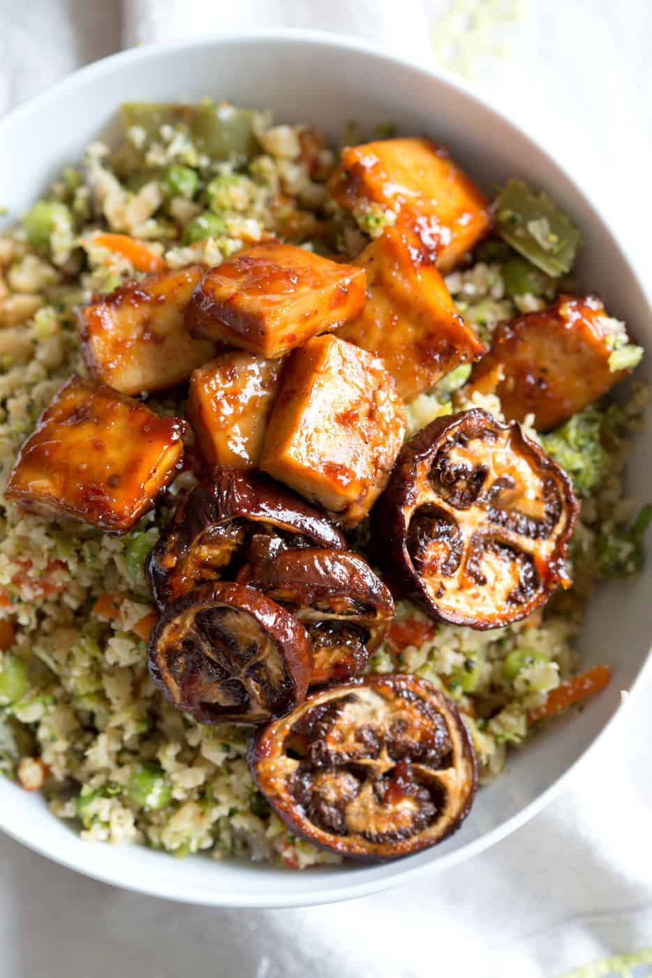 Eggplant and Tofu in Soy Lime Sauce