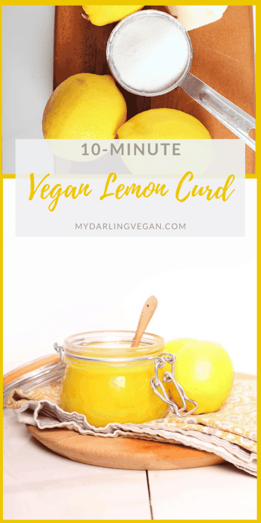 This easy vegan lemon curd is perfect. Sweet and citrusy, this thick lemony custard is the perfect sauce, filling, and condiment for your seasonal desserts. Made in just 10 minutes for a sweet treat nobody will believe is vegan.