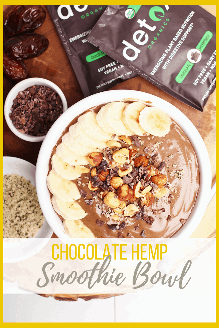 This Hazelnut Chocolate Smoothie Bowl is a wholesome, hearty, and delicious way to start your day. Made in just 5 minutes, it's a smoothie that is packed with fiber, protein, and powerful superfoods for a meal that will fuel you up for hours.