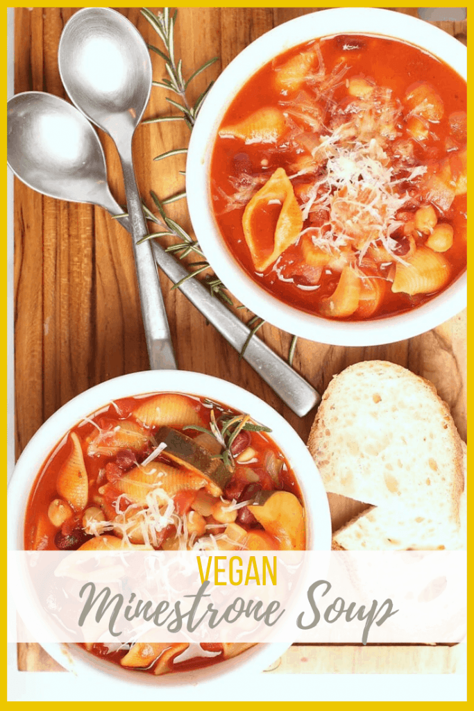 This hearty and delicious homemade Minestrone Soup is a fan favorite. Packed with flavor, this vegan soup is made in just 1 pot and in under 30 minutes; an easy weeknight meal the whole family will love.