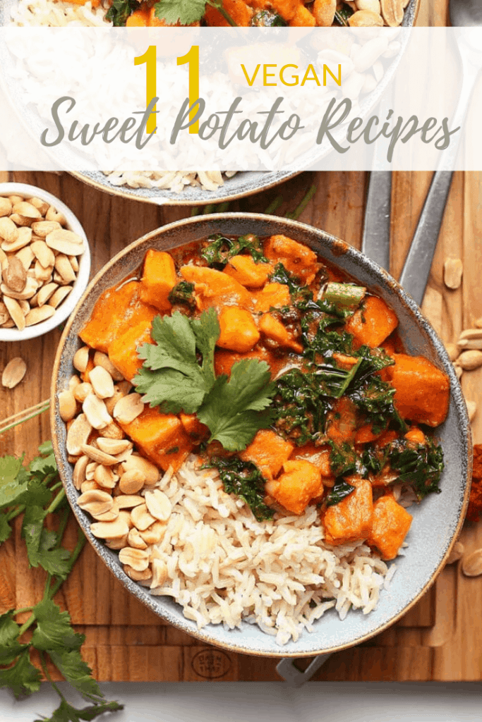 Sweet potatoes are one of my favorite vegetables. Get these 11 vegan sweet potato recipes to make your family dinners even more special. From curries to stuffed sweet potatoes, there is something for everyone.