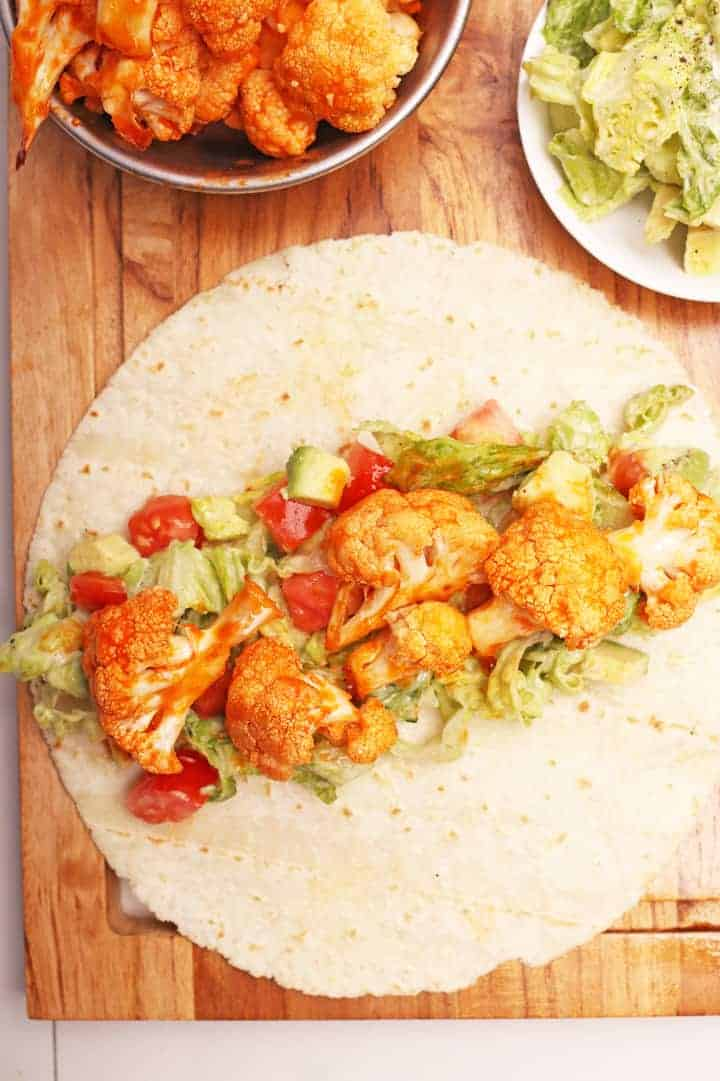 Buffalo Cauliflower Wrap