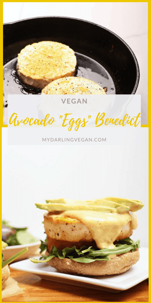 Start your day off right with this Vegan Eggs Benedict with avocado - made to perfection with seasoned tofu and homemade vegan hollandaise sauce.
