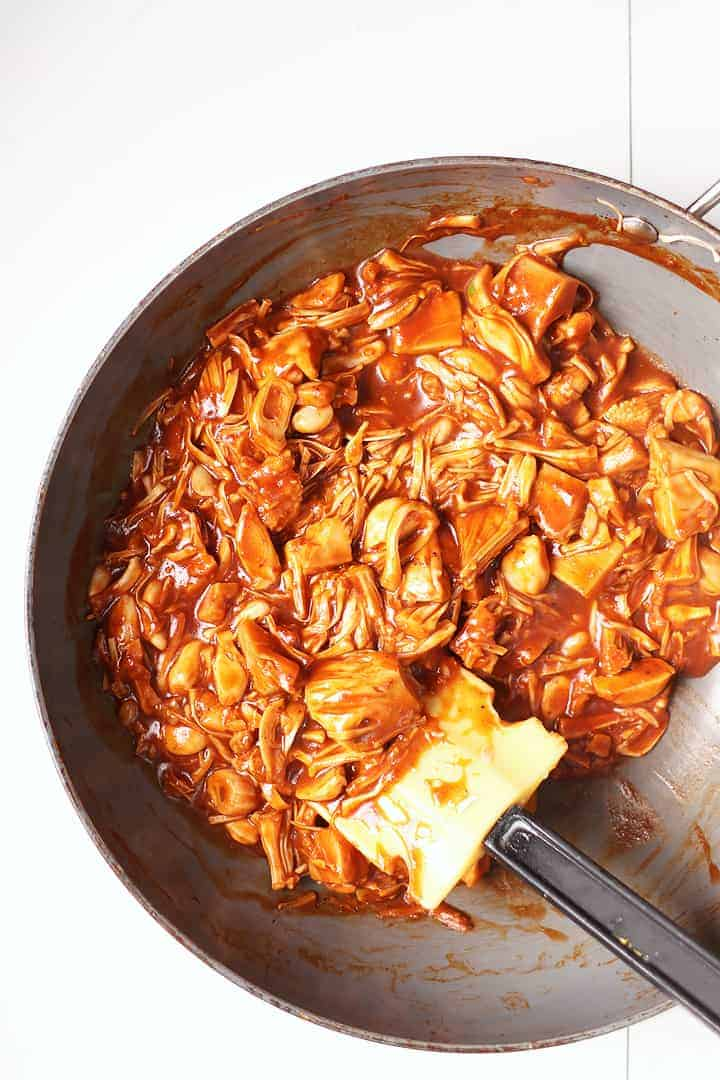 Sautéed Jackfruit with BBQ Sauce