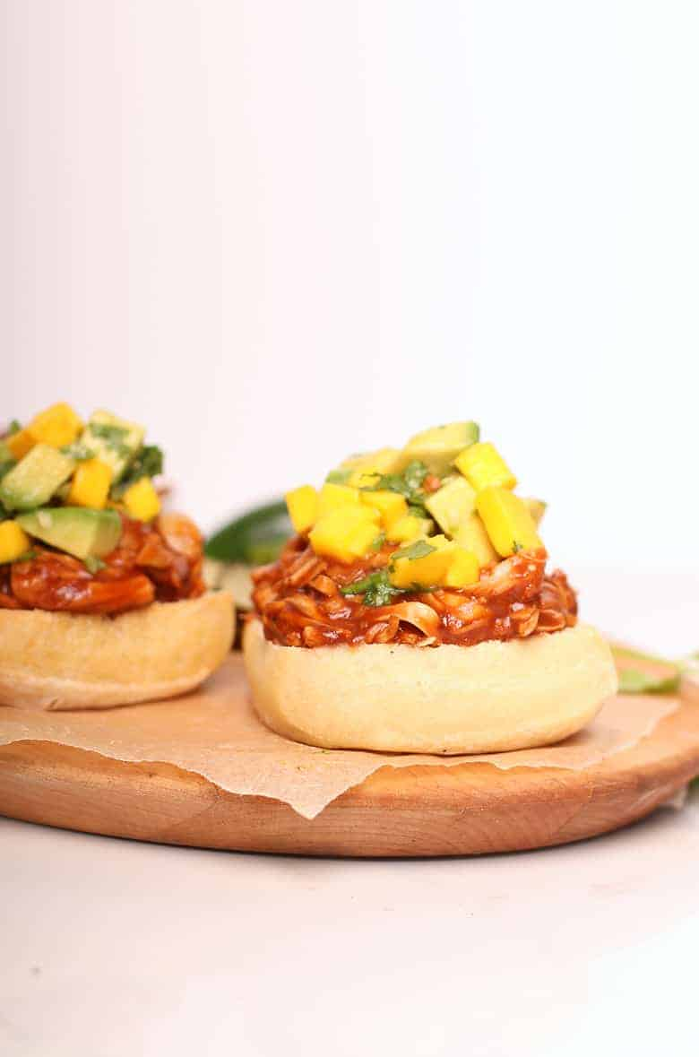 Open-faced BBQ Jackfruit Sandwiches