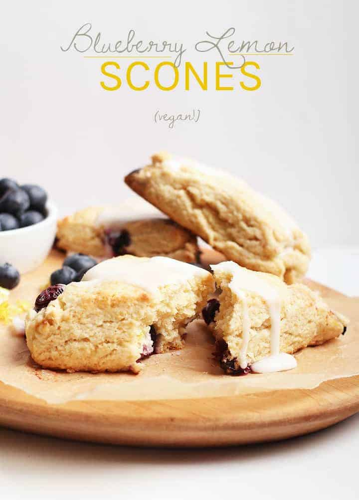 You're going to love these flaky vegan scones. Filled with blueberries and lemon in every bite, this vegan pastry is the ultimate comfort food. Made in just 30 minutes!