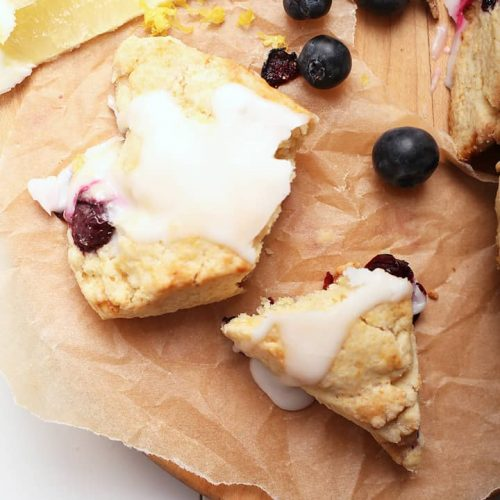 Blueberry Scones with lemon and fresh blueberries