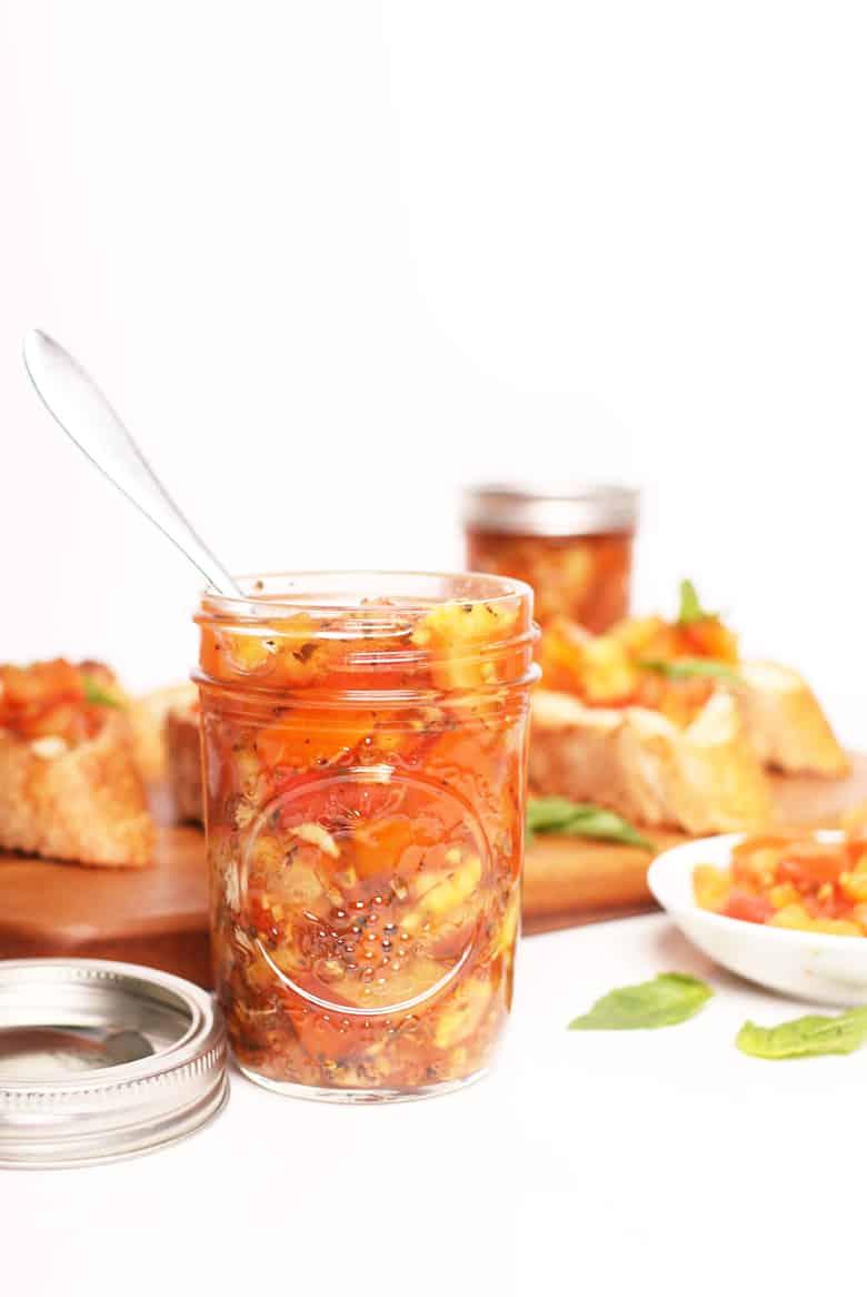Tomato Bruschetta in a jar