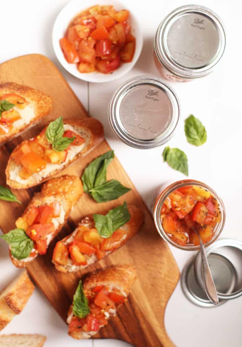 Baked Tomato Bruschetta
