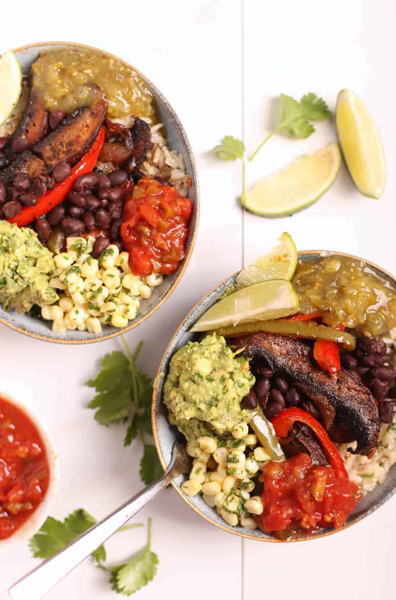 VEGAN FAJITA BOWLS WITH PORTOBELLO STEAK MY DARLING VEGAN