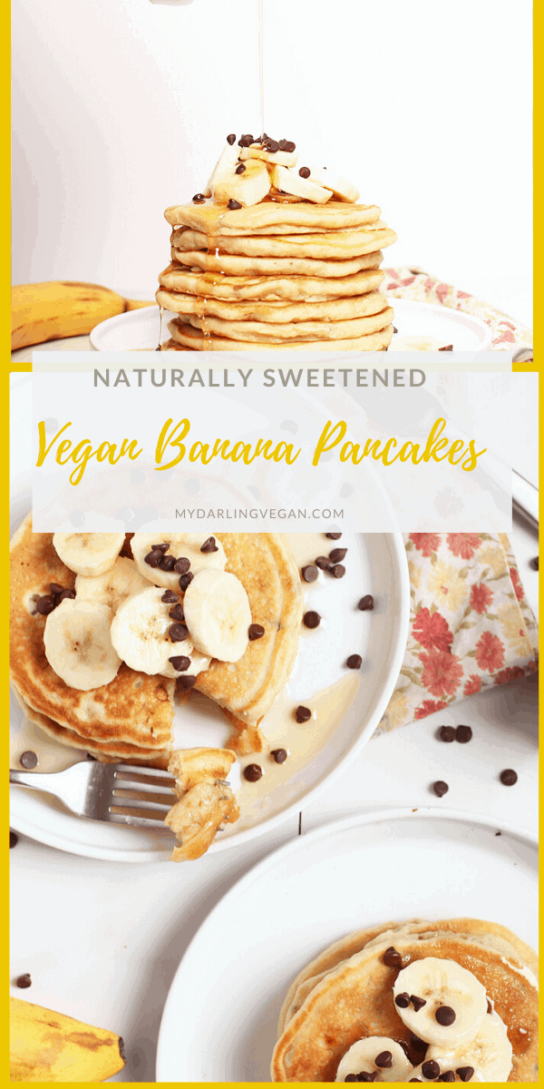 Wake up to these easy Vegan Banana Pancakes. Light, fluffy, and slightly sweetened with maple syrup, this is a breakfast worth getting out of bed for. Ready in 10 minutes.