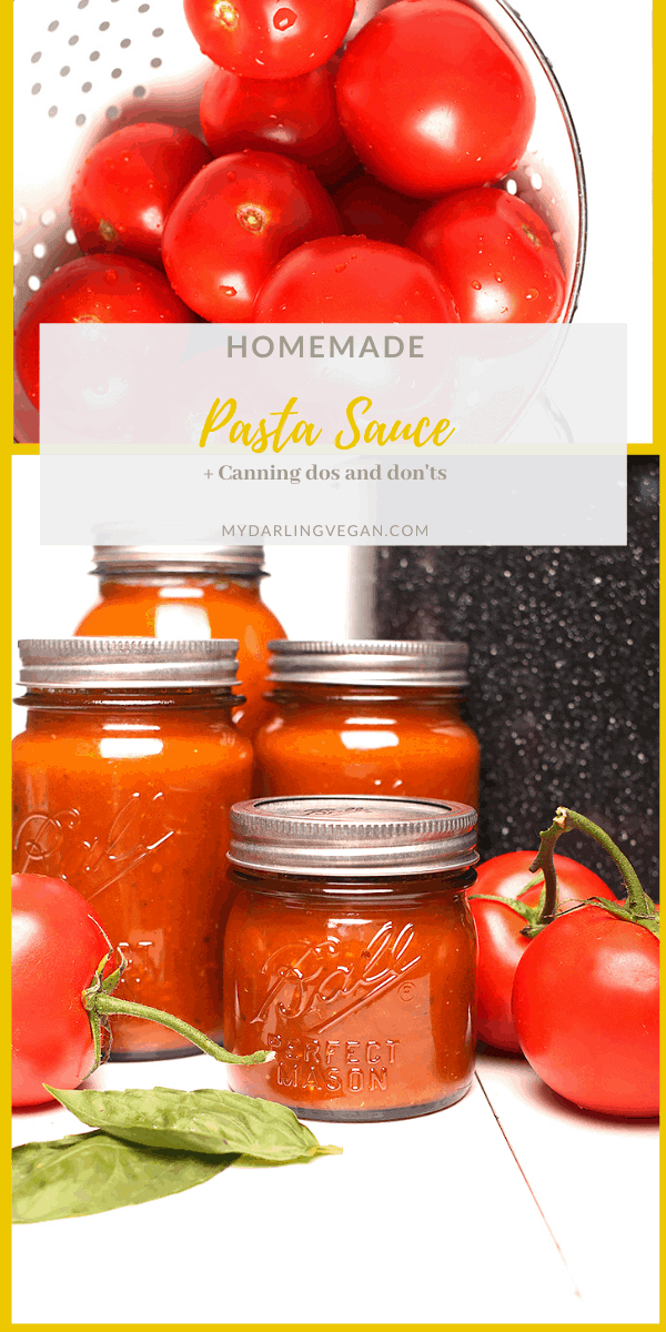 Sweet, savory, and tart, this Basil Garlic Tomato Sauce recipe is seasoned to perfection. Canned tomato sauce will last you all year long for the perfect easy weeknight pasta meal.