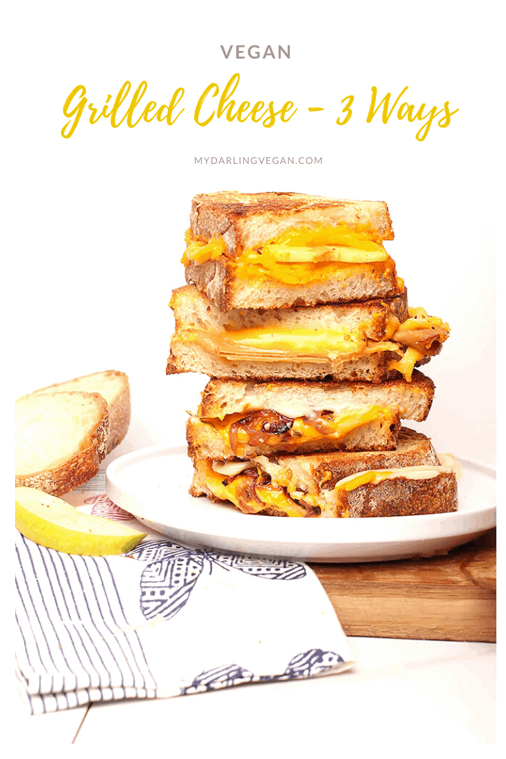Get ready for back to school with these 3 vegan grilled cheese sandwich recipes. Delicious gourmet sandwiches to delight the whole family. Made in 10-15 minutes!