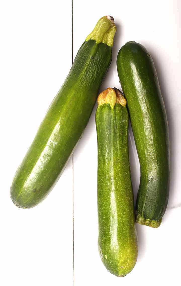 3 whole zucchinis