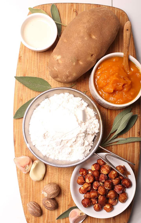 Ingredients for pumpkin gnocchi