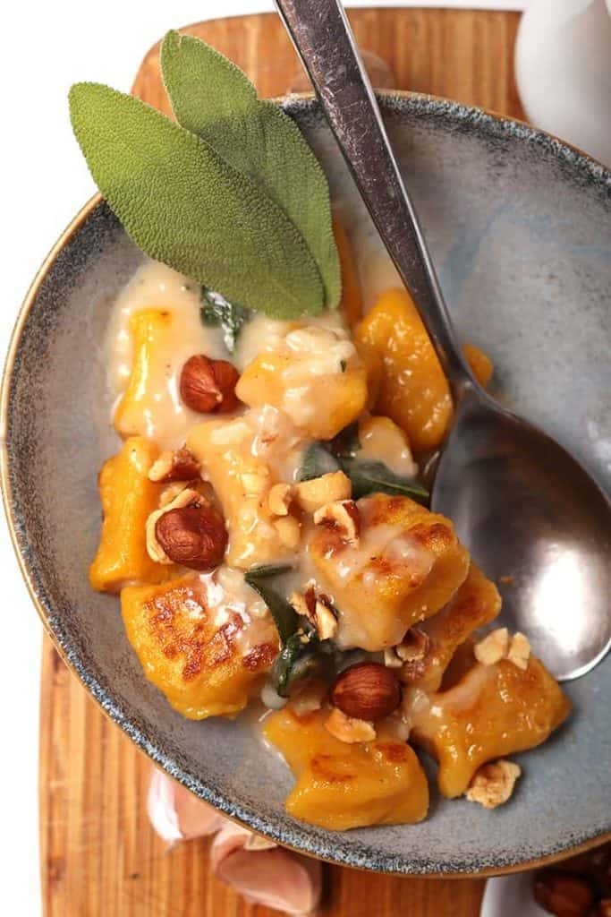 Pumpkin Gnocchi with fresh sage
