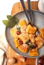 Pumpkin Gnocchi with fresh sage