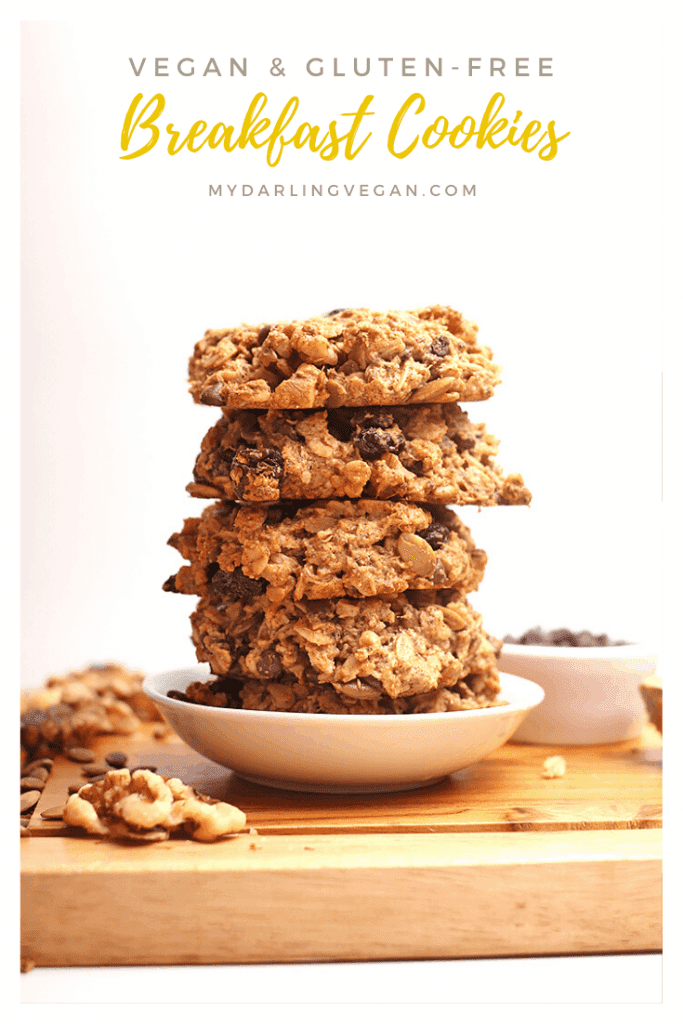 Start your day off with these superfood-packed gluten-free vegan breakfast cookies. Made in just 30 minutes for a breakfast or snack that will fuel you up all morning long.